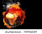 burning earth - stock photo