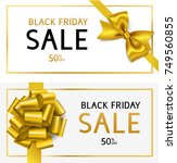 black friday sale template.... | Shutterstock .eps vector #749560855