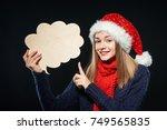 Happy Christmas Woman Wearing...