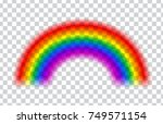 transparent rainbow. vector... | Shutterstock .eps vector #749571154