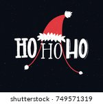 funny christmas card with text... | Shutterstock .eps vector #749571319