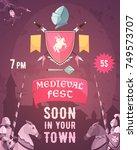 medieval fest announcement...   Shutterstock .eps vector #749573707