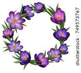illustration of wreath from...   Shutterstock .eps vector #749573767