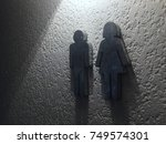 man and woman toilet sing. | Shutterstock . vector #749574301