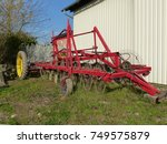 Small photo of A tedder (also called hay tedder) is a machine used in haymaking. Bavaria, Germany