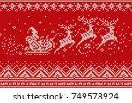 santa claus rides reindeer...