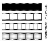 film strip collection. vector... | Shutterstock .eps vector #749593831