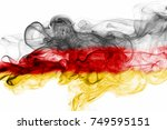 germany flag smoke | Shutterstock . vector #749595151