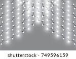 christmas lights isolated... | Shutterstock .eps vector #749596159