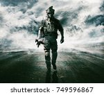 army soldier moving towards... | Shutterstock . vector #749596867