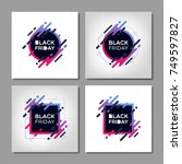 black friday sale banners. | Shutterstock .eps vector #749597827