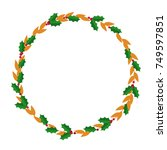 european christmas berry wreath ... | Shutterstock .eps vector #749597851