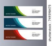 abstract vector banner business ... | Shutterstock .eps vector #749598475