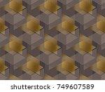 elegant geometric style... | Shutterstock .eps vector #749607589