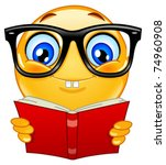 nerd emoticon | Shutterstock .eps vector #74960908