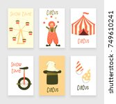 circus set of characters  cute... | Shutterstock .eps vector #749610241