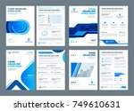 blue brochures annual reports... | Shutterstock .eps vector #749610631