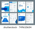 blue brochures annual reports... | Shutterstock .eps vector #749610634