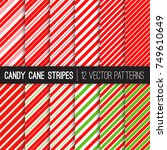 candy cane stripes vector... | Shutterstock .eps vector #749610649