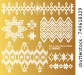 set of hand drawn ethnic  tribe ...   Shutterstock .eps vector #749618329