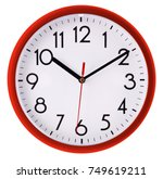 wall clock isolated on white...   Shutterstock . vector #749619211