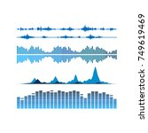 sound waves set. music... | Shutterstock .eps vector #749619469