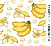 seamless vector pattern with... | Shutterstock .eps vector #749625511