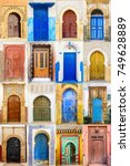 collage of traditional moroccan ...   Shutterstock . vector #749628889