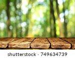 empty table background | Shutterstock . vector #749634739