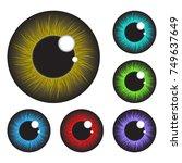 iris eye realistic  vector set ...   Shutterstock .eps vector #749637649