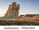 castle rock    limestone pillar ...   Shutterstock . vector #749637841
