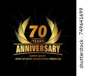 70 years design template.... | Shutterstock .eps vector #749641699