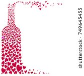one flat wine bottle composed...   Shutterstock .eps vector #749645455