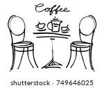 coffee doodle concept. vector...   Shutterstock .eps vector #749646025
