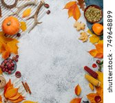 autumn nature composition ...   Shutterstock . vector #749648899
