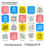 social media strategy  square... | Shutterstock .eps vector #749661079
