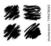 black friday set. blots ... | Shutterstock .eps vector #749678065