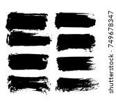 black friday set. blots ... | Shutterstock .eps vector #749678347