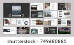 original presentation templates.... | Shutterstock .eps vector #749680885