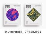 set of modern artistic posters. ... | Shutterstock .eps vector #749682931