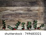 christmas holiday background ... | Shutterstock . vector #749683321