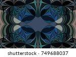 beautiful abstract pattern.... | Shutterstock . vector #749688037