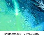 green blue marble texture... | Shutterstock . vector #749689387