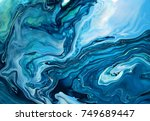 Green Blue Marble Texture...