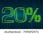 discount concept  20 percent... | Shutterstock . vector #749692471