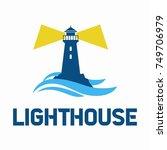 lighthouse logo design. vector... | Shutterstock .eps vector #749706979