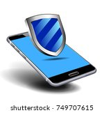 pay cash euro by mobile smart... | Shutterstock . vector #749707615