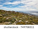 view of hobart from mount... | Shutterstock . vector #749708311