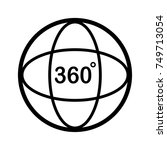 angle 360 degree icon. outline... | Shutterstock .eps vector #749713054