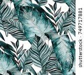 watercolor seamless pattern...   Shutterstock . vector #749717881